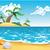 desenho · animado · marinha · praia · céu · natureza · oceano - foto stock © ddraw