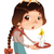 Young girl with squirrel and candle. stock photo © ddraw