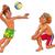 vôlei · bola · silhueta · ilustração · pessoas · jogar - foto stock © ddraw