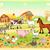 farm animals with background stock photo © ddraw