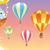 hot · lucht · ballonnen · naadloos · retro · patroon · kunst - stockfoto © ddraw