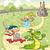 dragón · caballero · valiente · nino · castillo - foto stock © ddraw