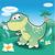 baba · dinoszauruszok · vektor · kép · rajz · gyerekek - stock fotó © ddraw