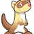 cute · Cartoon · hurón · feliz · gráfico - foto stock © ddraw