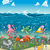 oceaan · familie · vis · grappig · cartoon · baby - stockfoto © ddraw