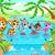 смешные · животные · реке · древесины · Cartoon · семьи - Сток-фото © ddraw