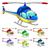 grappig · helikopter · cartoon · vector · geïsoleerd · karakter - stockfoto © ddraw