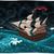 nacht · zeegezicht · piraat · schip · strand · hemel - stockfoto © ddraw