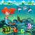 海 · 漫画 · 孤立したオブジェクト · 海 · フラグ · ボート - ストックフォト © ddraw
