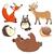 engraçado · animais · madeira · desenho · animado · família · sorrir - foto stock © ddraw