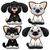 cute · honden · katten · grappig · cartoon · vector - stockfoto © ddraw