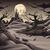 Cartoon · noche · desierto · paisaje · cielo · arte - foto stock © ddraw