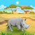 african landscape with rhinoceros stock photo © ddraw