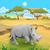 Cartoon · naturaleza · paisaje · desierto · aislado · blanco - foto stock © ddraw