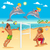 funny summer scene with dolphins and beachvolley stock photo © ddraw