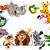 シマウマ · 漫画 · フレーム · 食品 · 赤ちゃん · 笑顔 - ストックフォト © ddraw