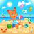 spiaggia · polpo · illustrazione · giocare · estate · sabbia - foto d'archivio © ddraw