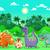 смешные · Cute · динозавр · Cartoon · джунгли · пейзаж - Сток-фото © ddraw