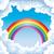 couleur · Rainbow · nuages · ciel · bleu · gradient - photo stock © ddraw
