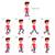 animasyon · goril · yürüyüş · on · altı · kareler · statik - stok fotoğraf © ddraw