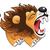 коричневая · собака · обои · только · животного · рисунок · Cartoon - Сток-фото © ddraw