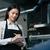 kelnerka · piśmie · celu · notatnika · znajomych · jadalnia - zdjęcia stock © deandrobot