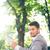 Businessman holding newspaper stock photo © deandrobot