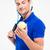 tennisspeler · man · spelen · tennis · sport · achtergrond - stockfoto © deandrobot