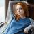 vrouw · ontspannen · schommelstoel · portret · jonge - stockfoto © deandrobot