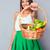 mujer · cesta · hortalizas · femenino · frescos - foto stock © deandrobot