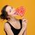 красивая · девушка · конфеты · красивой · женщину - Сток-фото © deandrobot