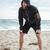 full length tired runner on beach stock photo © deandrobot
