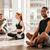 vrouwen · pose · yoga · klasse · fitness · studio - stockfoto © deandrobot
