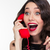 excited lovely cute woman in retro style talking on telephone stock photo © deandrobot