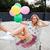 szőke · nő · lány · léggömbök · háziasszony · pózol · stúdió - stock fotó © deandrobot