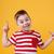 счастливым · мало · мальчика · улыбаясь · указывая · далеко - Сток-фото © deandrobot
