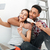 happy young loving couple in new flat make selfie stock photo © deandrobot