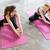 iki · pembe · yoga - stok fotoğraf © deandrobot