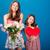 twee · vrolijk · cute · zusters · boeket - stockfoto © deandrobot
