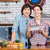 happy couple cooking and using tablet on kitchen together stock photo © deandrobot