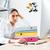 renkli · klasörler · çok · beyaz · bilgisayar · ofis - stok fotoğraf © deandrobot