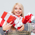 Navidad · mujer · presente · excitado · jóvenes - foto stock © deandrobot