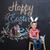 küçük · erkek · Paskalya · dekorasyon · easter · bunny · bakıyor - stok fotoğraf © deandrobot