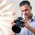 fotógrafo · câmera · profissional · masculino - foto stock © deandrobot