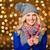 souriant · cute · femme · écharpe · chapeau · portrait - photo stock © deandrobot