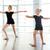 little girl ballerina dancing with teacher in dance studio stock photo © deandrobot