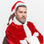 portrait of man santa claus standing with arms crossed stock photo © deandrobot