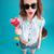 mutlu · genç · kadın · güneş · gözlüğü · dil · insanlar - stok fotoğraf © deandrobot