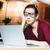 исчерпанный · деловая · женщина · очки · используя · ноутбук · месте · устал - Сток-фото © deandrobot