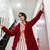 kırmızı · kadın · şık · oda · yüz · seksi - stok fotoğraf © deandrobot